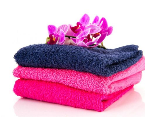 towels-and-flowers