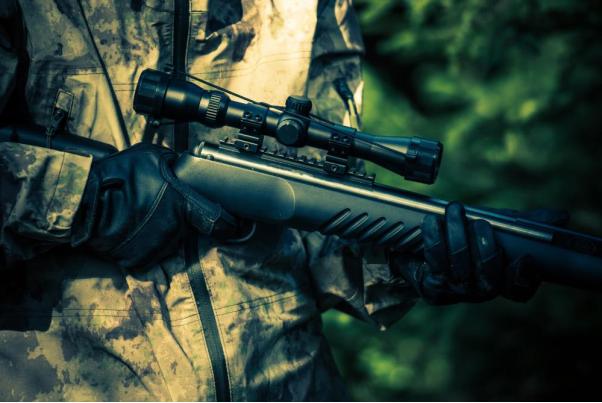 hunter rifle close up