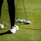 golf stick and balls