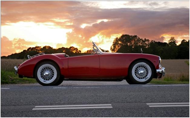 red vintage model