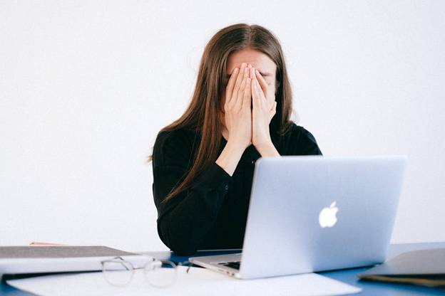 A woman struggling with anxiety