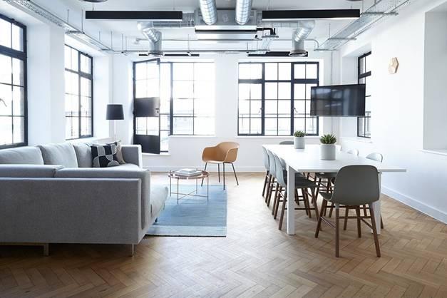 A clean office floor
