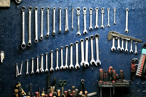 garage tools on the wall