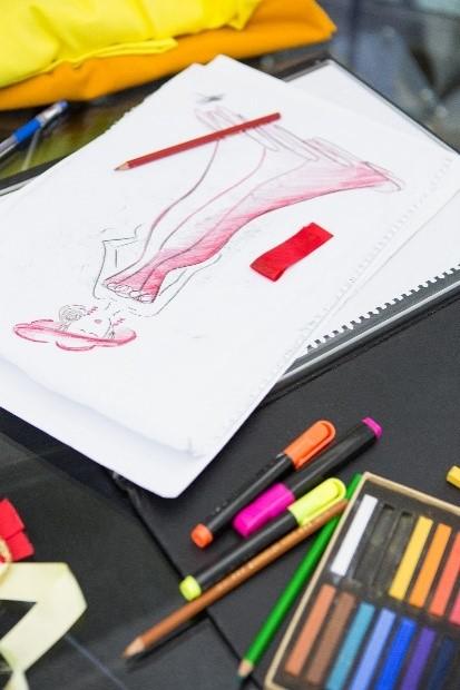 A dress design sketch