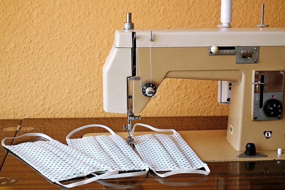 Sewing machine and face masks
