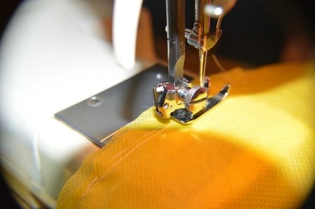 An operational sewing machine