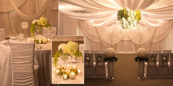 A snapshot of party décor for a wedding, done by a professional event planner.