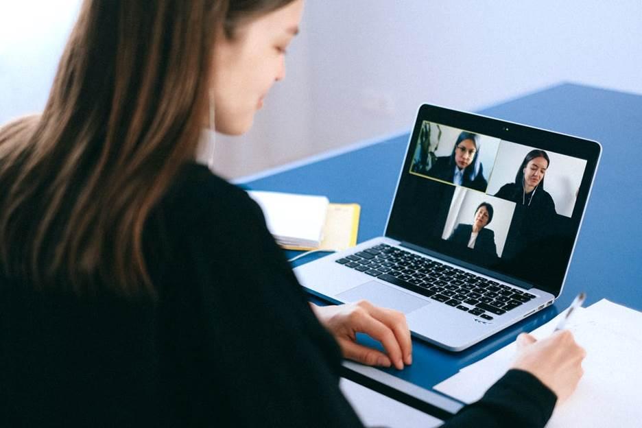 Staff using unified communications