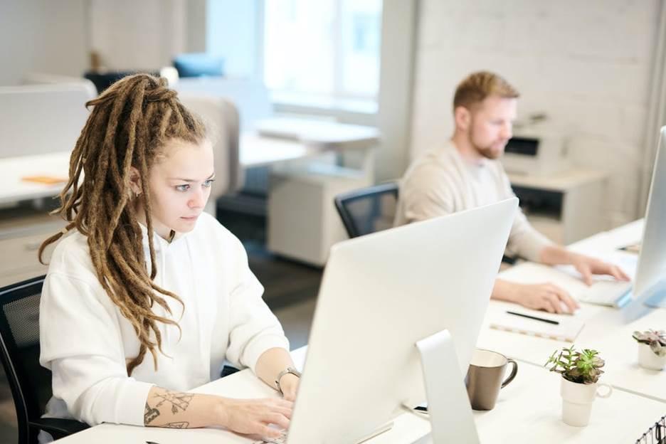 Staff using SaaS on computers