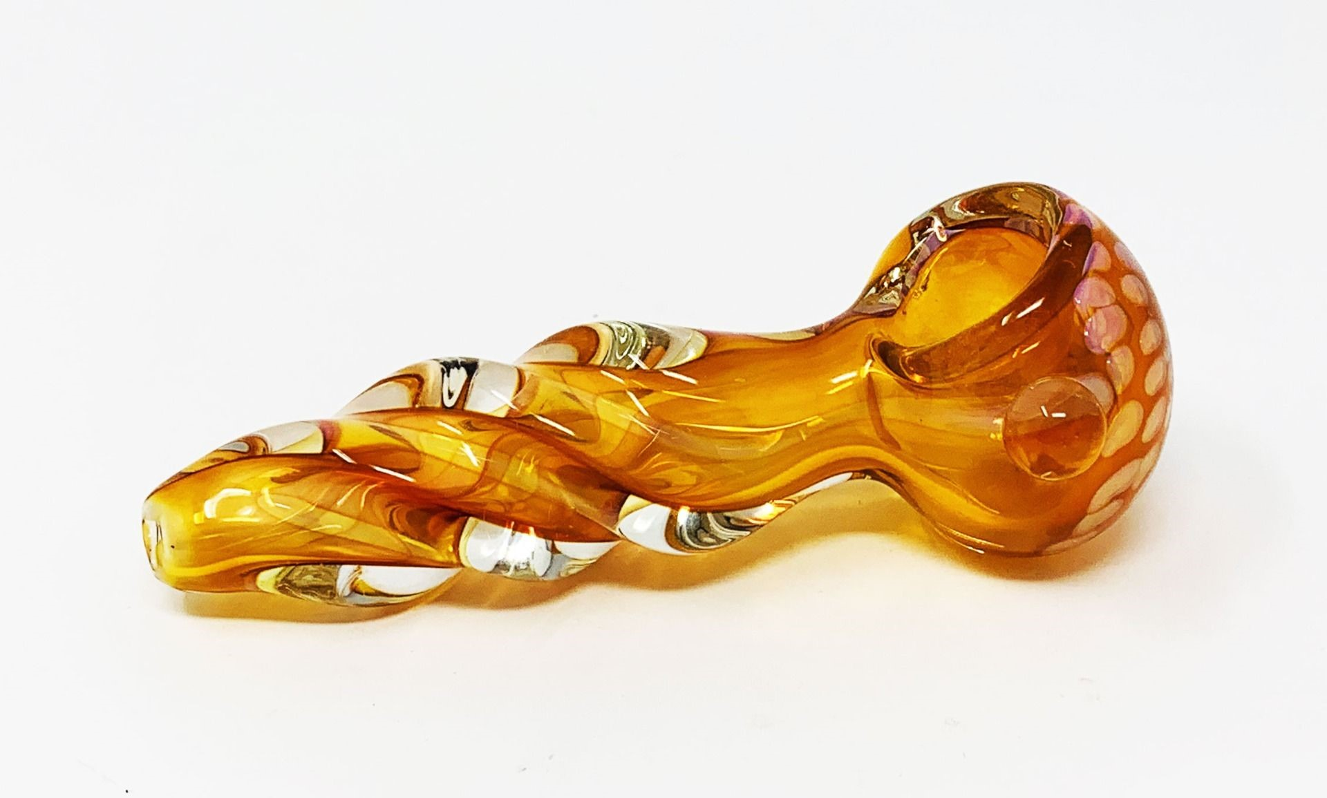 Heavy hand tobacco glass pipe