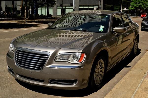 A parked Chrysler 300 Sedan