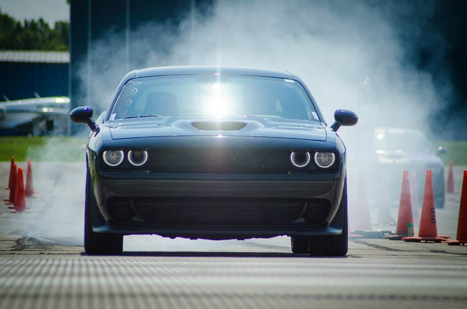 Dodge Challenger on the road