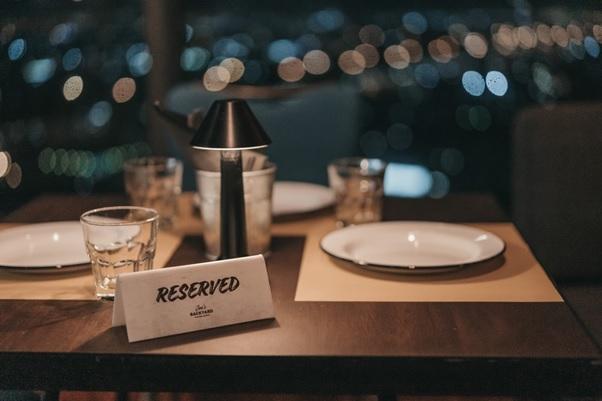 Reservation at a fine dining restaurant.