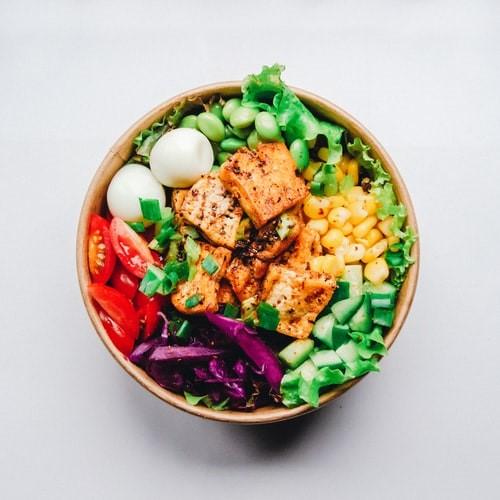 A healthy salad.