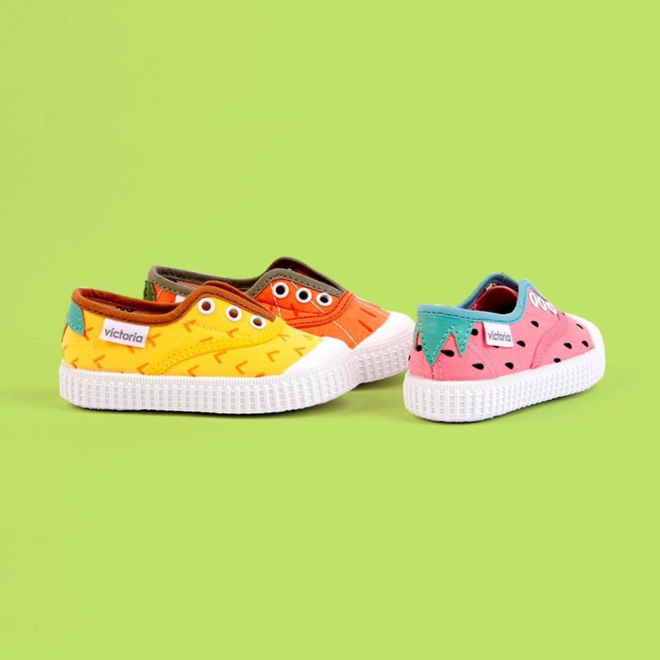 Fruity sneakers in vibrant colours