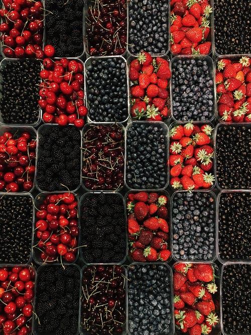 An assortment of berries